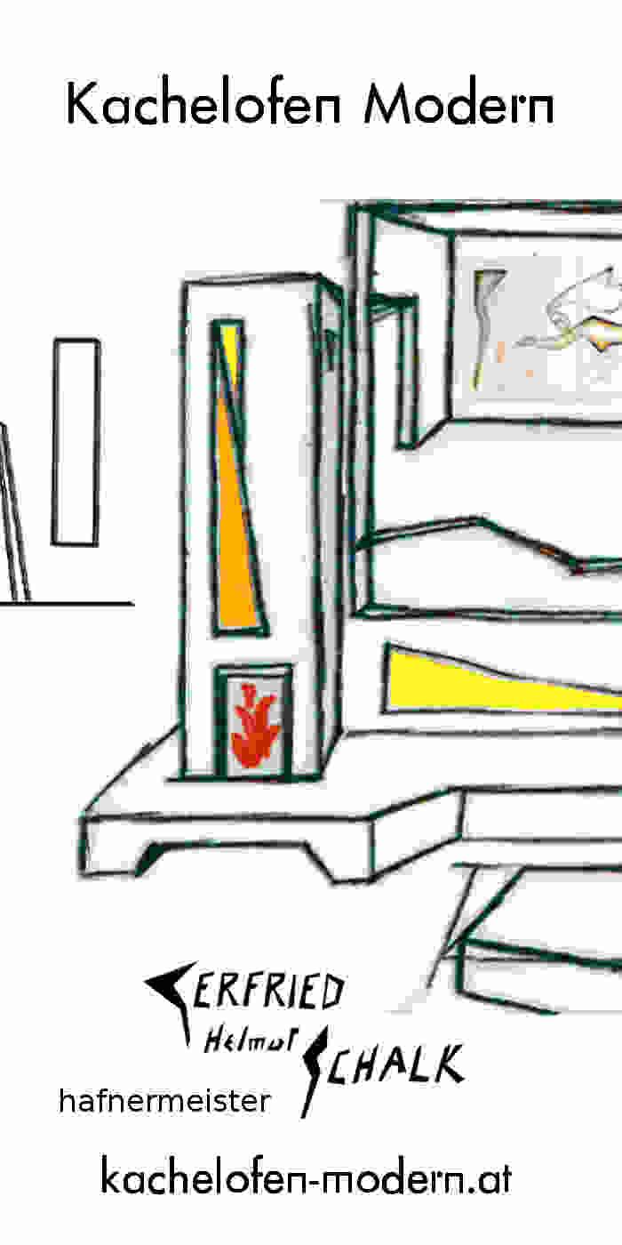 Kachelofen modern mit Sichtfenster und Keramik